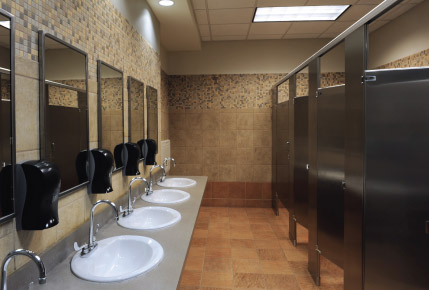 picture of commercial bathroom