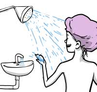 Shower & Faucet Illustration