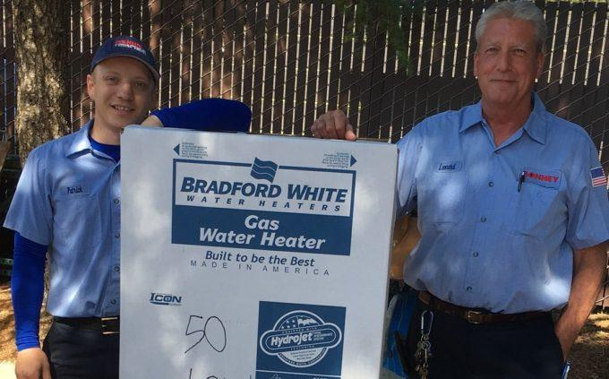 Bonney installs Water Heaters made in America