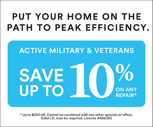 Military Discount: Up to 10%