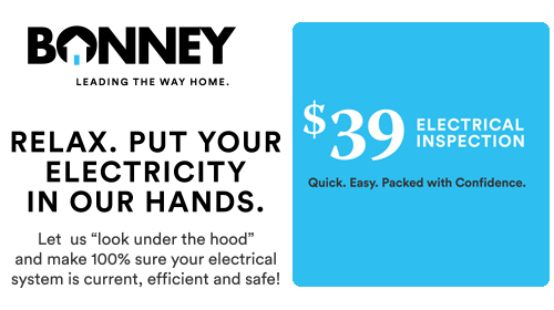 Relax. Put your Electricity in our Hands - $39 electrical inspection from Bonney