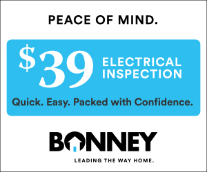 $39 electrical inspection from Bonney - August promotion