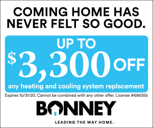 Up to $3,300 off any heating and cooling system replacement from Bonney