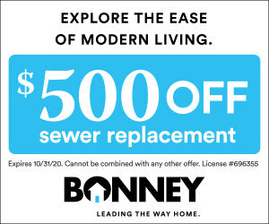 $500 off sewer replacement from Bonney in Sacramento