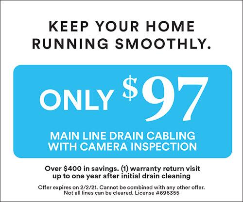 $97 Main Line Drain Cabling