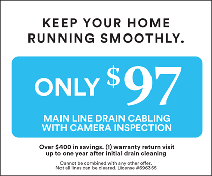 $97 Sewer Offer- Permanent